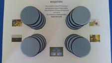 Set 16 x 50mm Teflon Glides SLides Sliders heavy FURNITURE slippy pads Glides