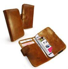 Fundas y carcasas color principal marrón de piel para teléfonos móviles y PDAs
