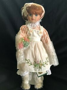 "Heritage Signature Collection Porcelain 17"" Doll Pinafore Patty  NEW in BOX"