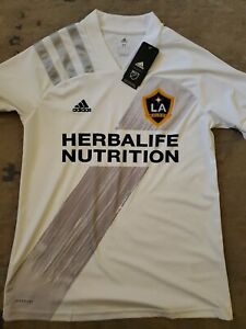 NWT / REPLICA STYLE / Adidas LA GALAXY HOME Jersey 2020 White MLS Mens MEDIUM