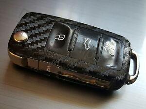 VW Key Fob Carbon Fibre Effect Car Sticker Decal Wrap T5 Golf MK6 Passat