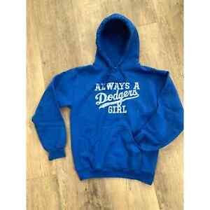 DODGERS Sweatshirt HOODIES Blue Baseball Hoodie S