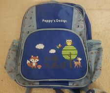 Kinderrucksack Peppy`s Design Kinder Jungen Rucksack In The Forest Blau Kids Neu