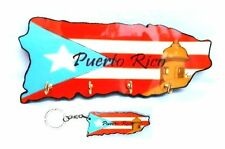 LOT OF 1 Puerto Rico Souvenir Home Wall Keychain HOLDER & 1 Key holder Rican #2