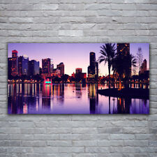 Canvas print Wall art on 120x60 Image Picture City Houses