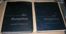 Vintage Air Force/Air Navigation Manual 51-40 Two Volume 1's, original & updated