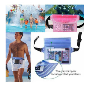 Completely Waterproof Pouch Travel Beach Swimming Cycling PVC Waist Dry Bum Bag