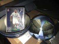MATCH ATTAX CHAMPIONS LEAGUE 15/16 SILVER RONALDO BALL TIN 70 CARDS