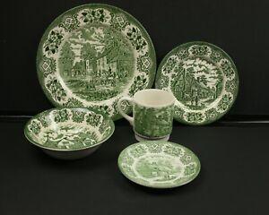 Ironstone Staffordshire Tableware 5pc Dinner Set The Old Inns Series