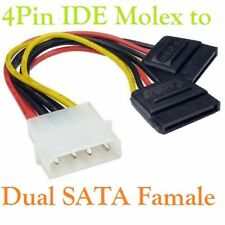 18cm 4 Pin IDE Molex to Dual SATA Y Splitter Female HDD Power Adapter Cable