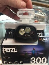 PETZL ACTIK 300 LUMENS MULTI-BEAM HEADLAMP W/RED LIGHTING - E99 AAA BLACK