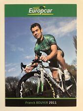 Franck Bouyer Team Europcar Pro Cycling oficial Rider Tarjeta con fotografía