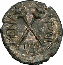 MENAINON in Sicily 175BC Demeter Ceres & Torches HOPE Emblem Greek Coin  i33453