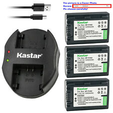 Kastar Battery Dual Charger for Sony NP-FH30 NP-FH40 NP-FH50 NP-FH70 NP-FH100