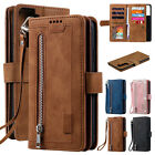 Zipper Leather Wallet Case For Samsung Galaxy S21 Ultra Plus S20 FE 5G S10 S9 S8