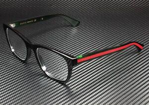 GUCCI GG0004O 002 Round Oval Black Demo Lens 53 mm Men's Eyeglasses