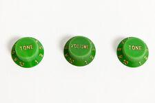 Set of Green Stratocaster guitar knobs 1V 2T - Set de botones Strat verde