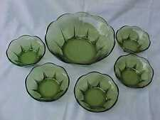 Vintage Anchor Hocking Swedish Modern Snack or Dessert Bowl Set