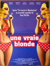 UNE VRAIE BLONDE (AFFICHE CINEMA 53x40) CATHERINE KEENER - DARYL HANNAH