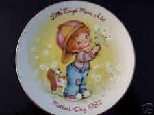 """Mother'S Day 1982 Little Things Mean A Lot 5"""" Plate"""