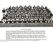 1967 OAKLAND RAIDERS AFL FOOTBALL TEAM 8X10 PHOTO HOFs BLANDA OTTO BELETNIKOFF