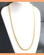 Elegant Women Men 22K Yellow Gold Plated Snake Chain Necklace Jewelry  hc16
