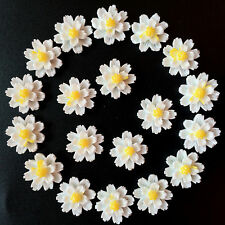 NEW DIY12pcs white Resin flower flat back Scrapbooking For phone/craft