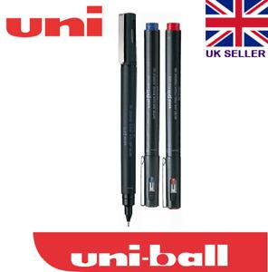 UNI PIN  0.1 mm DRAWING PEN  ULTRA FINE LINE MARKER black+blue+red pack 3
