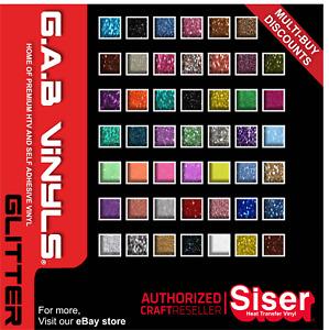 Mini Rolls - 500mm x 300mm - Siser Easyweed Glitter PREMIUM HTV Vinyl IRON ON