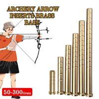 12pcs 50-300gr Heavy Weight Archery Arrow Inserts Brass Base ID6.2mm Shaft DIY