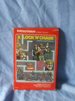 Vintage Intellivision LOCK 'N' CHASE Game in Box 1982 COMPLETE