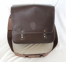 Ghurka The Office No. 169 Flap Messenger Bag w/ Web Shoulder Strap Walnut Brown