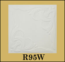 Tin-Look Styrofoam Ceiling Tiles Easy Installation - R95W