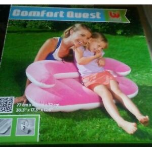 New Comfort Quest Bestway Inflatable Couch Seat  ages 3-6 (PInk)