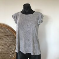 H&M Short Sleeve Top Size S Black And White Spotty Dotty Top