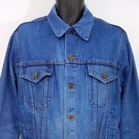 Big Mac Mens Denim Trucker Jacket Vintage 80s JCPenney Made In USA 44 R Large