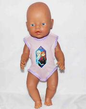 Krümel 43 cm Puppen-Kapuzen-Anzug lind mit Smilie  für Baby Born ChouChou