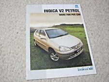 1990's TATA INDICA V2 (INDIA) SALES BROCHURE.