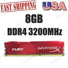 For 8GB Kingston HyperX PC4-25600 DDR4 3200MHz Red Desktop Memory DIMM RAM QUSA