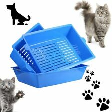 Pet Cat Litter Tray Box 3 Part System Don't Scoop Poo Cats Self Sifting OW