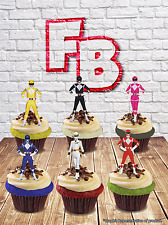 Power Rangers caractère Mix Wafer comestibles Cake Toppers. Anniversaire Kids Fun
