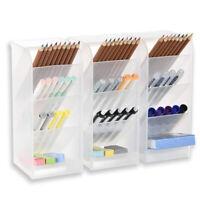 3 Pcs Big Desk Organizer Pen Organizer Storage for Office, School, Home E5J8