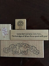 Inky Antics Stampin Up Sunshine Love Sayings Slogans Military LOT Rubber Stamps