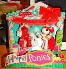 LALALOOPSY CHRISTMAS PONIES SET OF 2 TARGET EXCLUSIVE BRAND NEW IN PACKAGE