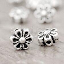 150pcs Tibet Tibetan Silver Flower Spacers Beads TS1027
