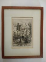 19th C. Framed Etching Print Robert Swain Gifford 1888 Untitled
