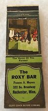 Minnesota MN Rochester THE ROXY BAR FRANCES MEYERS collectible Matchbook Cover