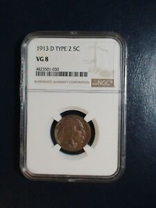 1913 D TYPE 2 Buffalo Nickel NGC VG8 5C Coin PRICED TO SELL QUICKLY!
