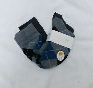 F279 Gold Toe Gray Women's 2-Pk. Argyle Knee High Socks