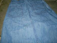 """Orange Tab Blue Denim Levi's Skirt waist 28"""""""